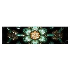 Kaleidoscope With Bits Of Colorful Translucent Glass In A Cylinder Filled With Mirrors Satin Scarf (oblong)