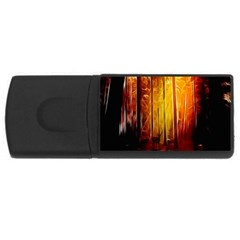 Artistic Effect Fractal Forest Background USB Flash Drive Rectangular (1 GB)