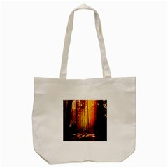 Artistic Effect Fractal Forest Background Tote Bag (Cream)