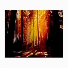 Artistic Effect Fractal Forest Background Small Glasses Cloth (2-Side)
