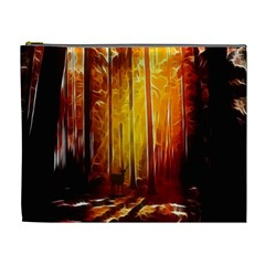 Artistic Effect Fractal Forest Background Cosmetic Bag (xl)