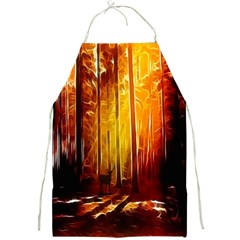 Artistic Effect Fractal Forest Background Full Print Aprons