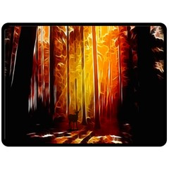 Artistic Effect Fractal Forest Background Fleece Blanket (large)