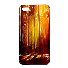 Artistic Effect Fractal Forest Background Apple iPhone 4/4s Seamless Case (Black)