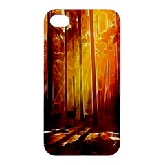 Artistic Effect Fractal Forest Background Apple iPhone 4/4S Premium Hardshell Case