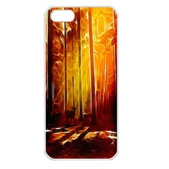 Artistic Effect Fractal Forest Background Apple iPhone 5 Seamless Case (White)