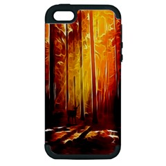 Artistic Effect Fractal Forest Background Apple iPhone 5 Hardshell Case (PC+Silicone)