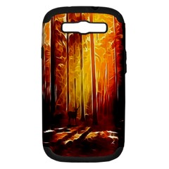 Artistic Effect Fractal Forest Background Samsung Galaxy S III Hardshell Case (PC+Silicone)
