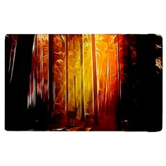 Artistic Effect Fractal Forest Background Apple iPad 3/4 Flip Case
