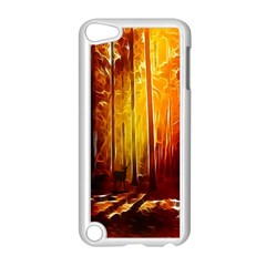 Artistic Effect Fractal Forest Background Apple iPod Touch 5 Case (White)