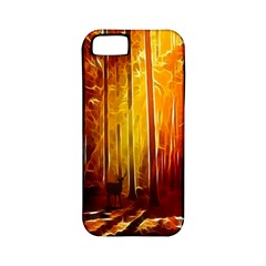 Artistic Effect Fractal Forest Background Apple iPhone 5 Classic Hardshell Case (PC+Silicone)