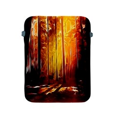 Artistic Effect Fractal Forest Background Apple Ipad 2/3/4 Protective Soft Cases