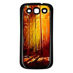 Artistic Effect Fractal Forest Background Samsung Galaxy S3 Back Case (black)