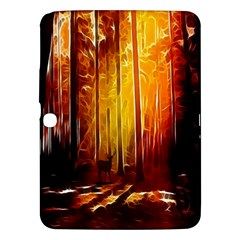 Artistic Effect Fractal Forest Background Samsung Galaxy Tab 3 (10.1 ) P5200 Hardshell Case