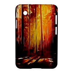 Artistic Effect Fractal Forest Background Samsung Galaxy Tab 2 (7 ) P3100 Hardshell Case