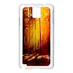 Artistic Effect Fractal Forest Background Samsung Galaxy Note 3 N9005 Case (White)