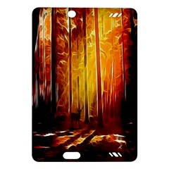 Artistic Effect Fractal Forest Background Amazon Kindle Fire HD (2013) Hardshell Case
