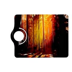 Artistic Effect Fractal Forest Background Kindle Fire HD (2013) Flip 360 Case