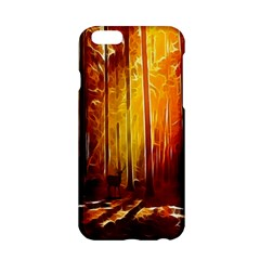 Artistic Effect Fractal Forest Background Apple iPhone 6/6S Hardshell Case