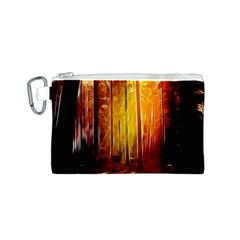 Artistic Effect Fractal Forest Background Canvas Cosmetic Bag (S)