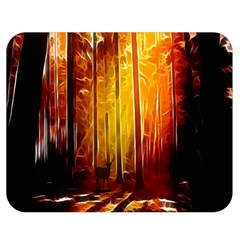 Artistic Effect Fractal Forest Background Double Sided Flano Blanket (medium)