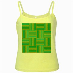 Pattern Yellow Spaghetti Tank