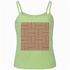 Pattern Green Spaghetti Tank
