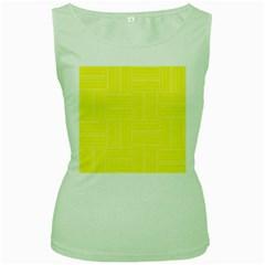 Pattern Women s Green Tank Top