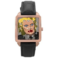 Happy Birthday Mr  President  Rose Gold Leather Watch