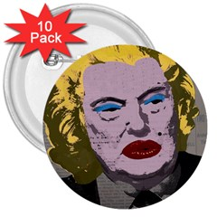 Happy Birthday Mr. President  3  Buttons (10 pack)