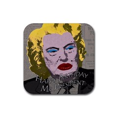 Happy Birthday Mr. President  Rubber Square Coaster (4 pack)