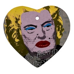Happy Birthday Mr. President  Heart Ornament (Two Sides)