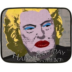 Happy Birthday Mr. President  Fleece Blanket (Mini)