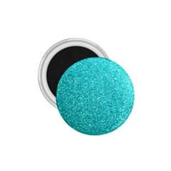 Tiffany Aqua Blue Glitter 1.75  Magnets