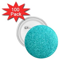 Tiffany Aqua Blue Glitter 1.75  Buttons (100 pack)