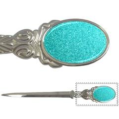 Tiffany Aqua Blue Glitter Letter Openers
