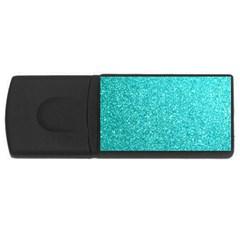 Tiffany Aqua Blue Glitter USB Flash Drive Rectangular (2 GB)