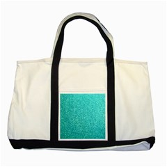 Tiffany Aqua Blue Glitter Two Tone Tote Bag