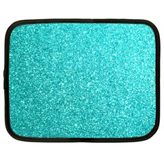 Tiffany Aqua Blue Glitter Netbook Case (xxl)