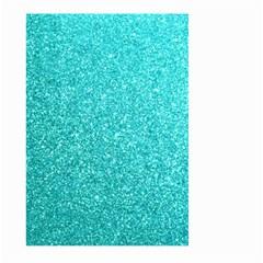 Tiffany Aqua Blue Glitter Large Garden Flag (Two Sides)