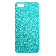 Tiffany Aqua Blue Glitter Apple Seamless iPhone 5 Case (Color)