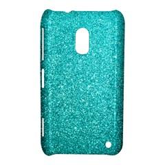 Tiffany Aqua Blue Glitter Nokia Lumia 620