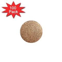 Copper Rose Gold Metallic Glitter 1  Mini Magnets (100 pack)
