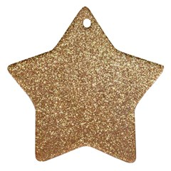 Copper Rose Gold Metallic Glitter Star Ornament (Two Sides)