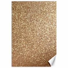 Copper Rose Gold Metallic Glitter Canvas 12  x 18