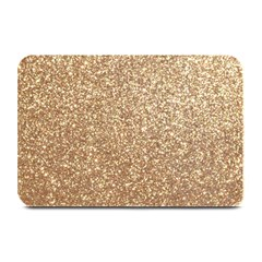 Copper Rose Gold Metallic Glitter Plate Mats