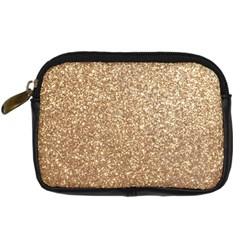 Copper Rose Gold Metallic Glitter Digital Camera Cases
