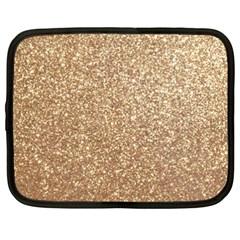 Copper Rose Gold Metallic Glitter Netbook Case (XXL)