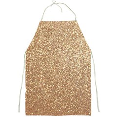 Copper Rose Gold Metallic Glitter Full Print Aprons