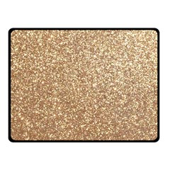 Copper Rose Gold Metallic Glitter Fleece Blanket (Small)